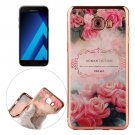 For Galaxy A5(2017) Romantic Roses Pattern Electroplating Frame Soft TPU Case