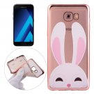 For Galaxy A5(2017) Rabbit Pattern Electroplating Frame Soft TPU Case
