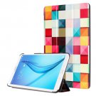 For Galaxy Tab E 8.0 Painting Custer 2 Texture Flip Leather Case with 3 Fold Holder