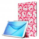 For Galaxy Tab E 8.0 Painting Custer 6 Texture Flip Leather Case with 3 Fold Holder