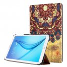 For Galaxy Tab E 8.0 Painting Custer 7 Texture Flip Leather Case with 3 Fold Holder