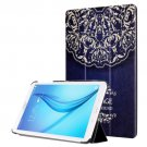For Galaxy Tab E 8.0 Painting Custer 10 Texture Flip Leather Case with 3 Fold Holder