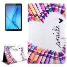 For Galaxy Tab E 8.0 Pens Pattern Flip Leather Case with Holder & Card Slot