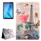 For Galaxy Tab E 8.0 Tower Pattern Flip Leather Case with Holder & Card Slot
