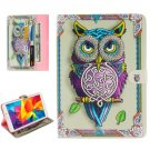 For Galaxy Tab E 8.0 Owl Pattern Flip Leather Case with Holder & Card Slots & Wallet