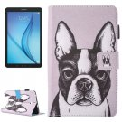 For Galaxy Tab E 8.0 Bulldog Pattern Flip Leather Case with Holder & Card/Pen Slots