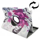 For Galaxy Tab A 9.7 Elegant Pattern Flip Leather Case with Rotating Holder