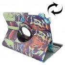 For Galaxy Tab A 9.7 Tiger Pattern Flip Leather Case with Rotating Holder