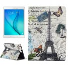 For Galaxy Tab A 9.7 Tower Pattern Horizontal Flip Leather Case with Holder