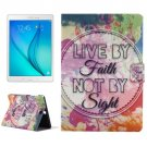 For Galaxy Tab A 9.7 Inspirational Pattern Horizontal Flip Leather Case with Holder