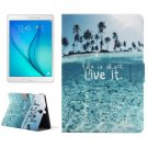 For Galaxy Tab A 9.7 Ocean Pattern Horizontal Flip Leather Case with Holder
