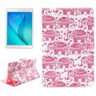 For Galaxy Tab A 9.7 Elephant Pattern Flip Leather Case with Holder, Card Slots & Wallet