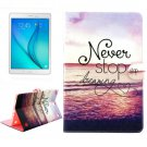 For Galaxy Tab A 9.7 Sea Pattern Flip Leather Case with Holder, Card Slots & Wallet