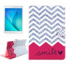 For Galaxy Tab A 9.7 Smile Pattern Flip Leather Case with Holder, Card Slots & Wallet