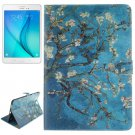 For Galaxy Tab A 9.7 Plum Pattern Flip Leather Case with Holder, Card Slots & Wallet