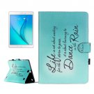 For Galaxy Tab A 9.7 Dancing Pattern Flip Leather Case with Holder, Card Slots & Wallet