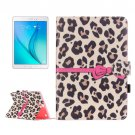 For Galaxy Tab A 9.7 Leopard Pattern Flip Leather Case with Holder, Card Slots & Wallet