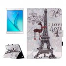 For Galaxy Tab A 9.7 Deer Pattern Flip Leather Case with Holder, Card Slots & Wallet