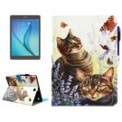 For Galaxy Tab A 9.7 Cats Smart Cover Leather Case with Holder, Card Slots & Wallet