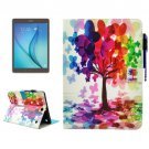 For Galaxy Tab A 9.7 Tree Smart Cover Leather Case with Holder, Card Slots & Wallet