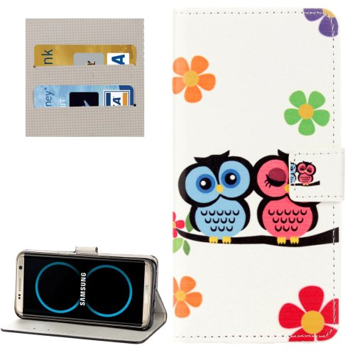 For Galaxy S8 Lovers Owl Pattern Flip Leather Case with Holder, Card Slots & Wallet
