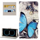 For Galaxy S8 Butterfly Pattern Flip Leather Case with Holder, Card Slots & Wallet