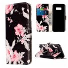 For Galaxy S8 Azalea Flower Pattern Leather Case with Card Slots, Holder & Wallet