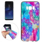 For Galaxy S8 Bright Flower Pattern Soft TPU Protective Case