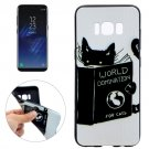 For Galaxy S8 Black Cat Pattern Soft TPU Protective Case