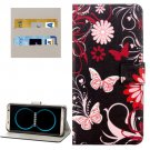 For Galaxy S8+ Butterflies Pattern Flip Leather Case with Holder, Card Slots & Wallet