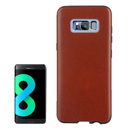 For Galaxy S8+ Coffee Crazy Horse Texture PU Leather Protection Back Cover Case