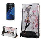 For Galaxy S8+ 3D Fairy Magnetic Leather Case with Holder, Card Slots & Lanyard