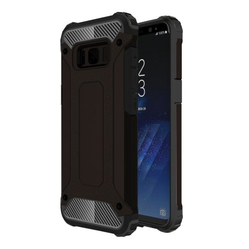For Galaxy S8+ Black Tough Armor TPU + PC Combination Case