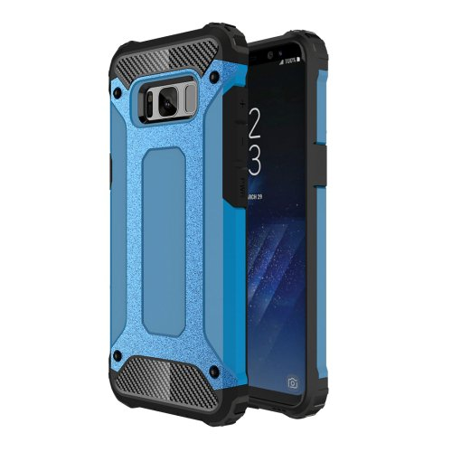 For Galaxy S8+ Blue Tough Armor TPU + PC Combination Case