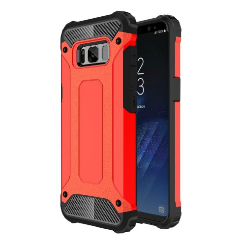 For Galaxy S8+ Red Tough Armor TPU + PC Combination Case