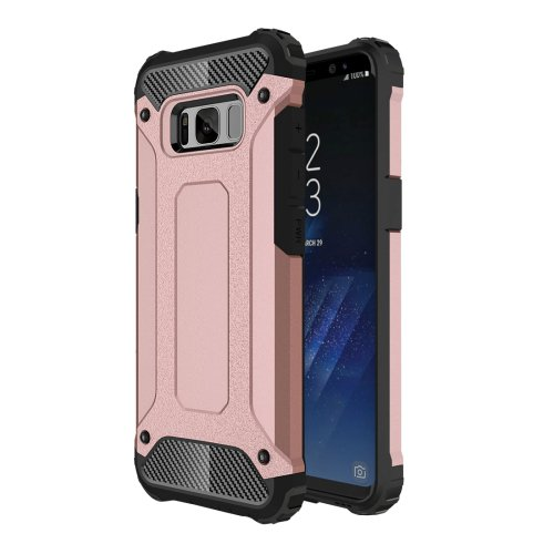 For Galaxy S8+ Rose Gold Tough Armor TPU + PC Combination Case