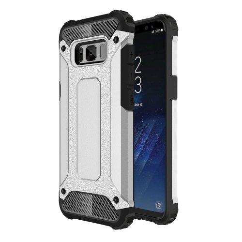 For Galaxy S8+ Silver Tough Armor TPU + PC Combination Case