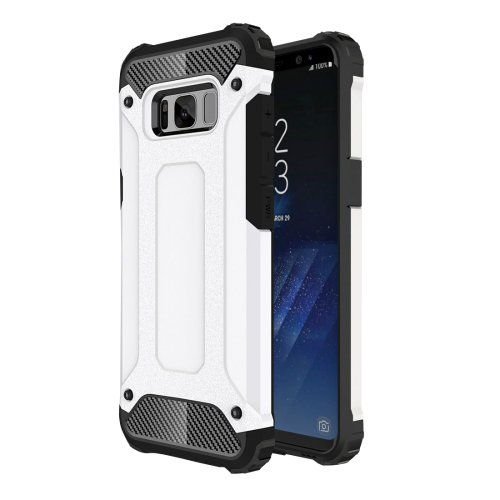 For Galaxy S8+ White Tough Armor TPU + PC Combination Case
