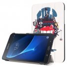 For Galaxy Tab A 7.0 Cartoon Pattern Flip Leather Case with 3-folding Holder