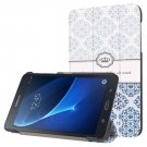 For Galaxy Tab A 7.0 Flower Pattern Flip Leather Case with 3-folding Holder