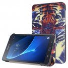 For Galaxy Tab A 7.0 Tiger Pattern Flip Leather Case with 3-folding Holder