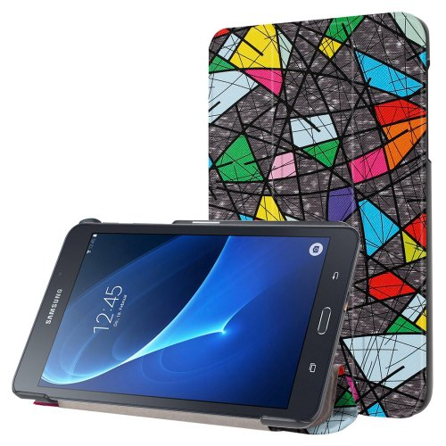 For Galaxy Tab A 7.0 Geometric Pattern Flip Leather Case with 3-folding Holder