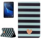 For Galaxy Tab A 7.0 Stripe Pattern Horizontal Flip Leather Case with Holder