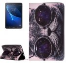 For Galaxy Tab A 7.0 Glasses Cat Pattern Horizontal Flip Leather Case with Holder
