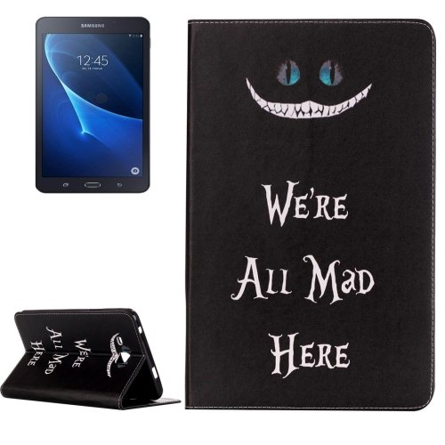 For Galaxy Tab A 7.0 All Mad Pattern Horizontal Flip Leather Case with Holder