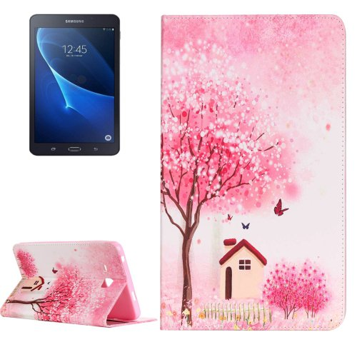 For Galaxy Tab A 7.0 Cottage Pattern Horizontal Flip Leather Case with Holder