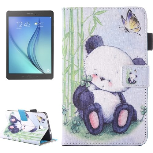 For Galaxy Tab A 7.0 Panda Pattern Horizontal Flip Leather Case with Holder & Card Slots