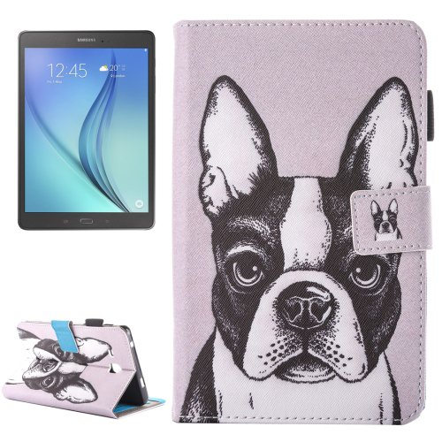 For Galaxy Tab A 7.0 Bulldog Pattern Horizontal Flip Leather Case with Holder & Card Slots
