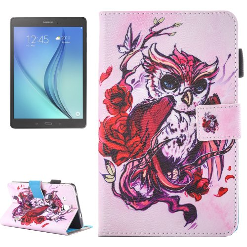 For Galaxy Tab A 7.0 Owl Pattern Horizontal Flip Leather Case with Holder & Card Slots