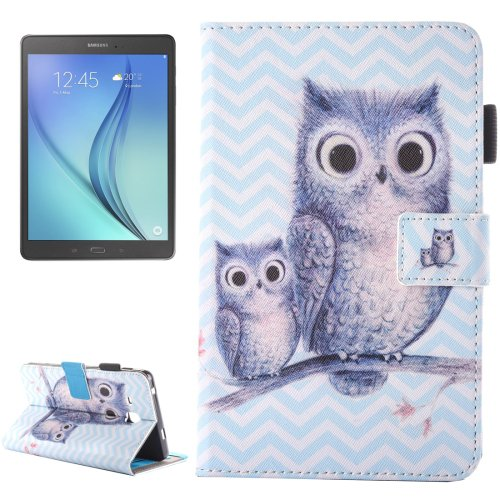 For Galaxy Tab A 7.0 Wave Owl Pattern Horizontal Flip Leather Case with Holder & Card Slots